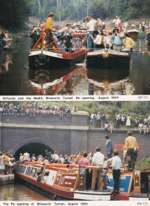 Blisworth Tunnel Northampton Reopening Boat Trips 2x Postcard