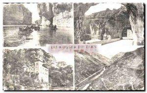 Old Postcard The Tarn Gorges The Detrotis Tunnel des Baumes Chateau de la Caz...