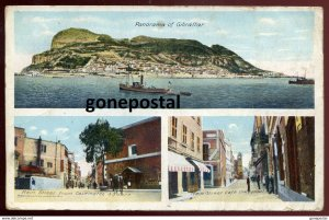 dc842 - GIBRALTAR 1910s Multiview Main Street by Cumbo