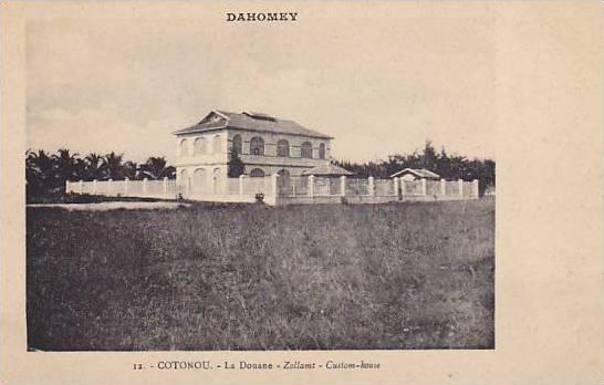 DAHOMEY . 1910s - 30s; COTONOU.-La Douane