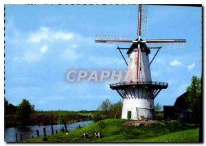 Modern Postcard Moulin a Vent