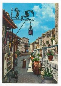 Artisan Shops In Fontebella St.,Picturesque, ASSISI, Italy,40-60