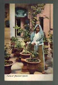 Mint Mexico Real Picture RPPC Postcard  Patio fo MExican House