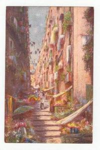 Art Postcard  Naples, Itlay, 00-10s    Pallonetto a S. Lucia