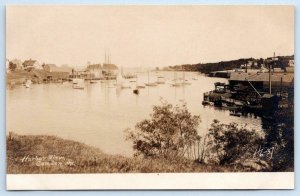 1907 ERA RPPC CAMDEN MAINE HARBOR VIEW*BOATS*ARTURA*UNUSED REAL PHOTO POSTCARD