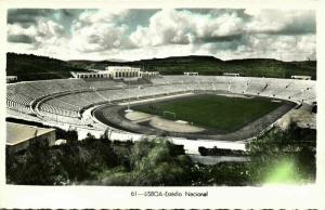 portugal, LISBON LISBOA, Estadio Nacional (1950s) Stadium Postcard RPPC (3)