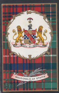 Scotland Postcard - Scottish Tartan - MacDonald of Staffa  HM238