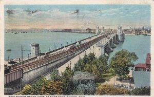 BOSTON, Massachusetts, PU-1916; West Boston Bridge, Charles River Basin