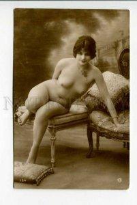 423900 NUDE Belle Woman Armchair Vintage PHOTO GA #154 Card