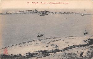 BR45410 Annam Tourane l ilot des docks la rade vietnam