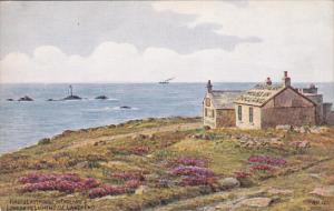 CORNWALL, England, 1900-1910's; First 2 Last House In England, Longships Ligh...