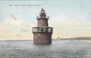 BOSTON , Massachusetts , 1907 ; Deer Island Lighthouse