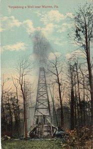 WARREN , Pennsylvania, 1900-10s; Torpedoing an Oil Well