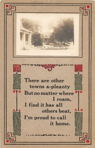 F97/ Stromsburg Nebraska RPPC Postcard c1910  Residence Street Homes 7