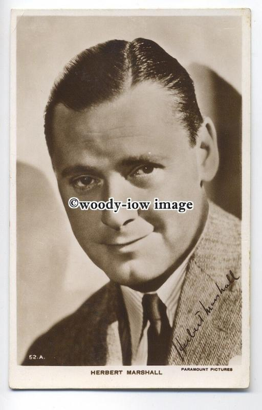 b3587 - Film Actor - Herbert Marshall, Paramount Pictures No.52A -  postcard