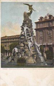 TORINO, Piazza dello statuto, Monumento del Freius, Ideal dal Conte ol Paniss...