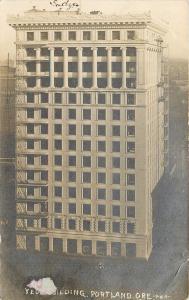 Portland Oregon~Yeon Building~Fire Escapes~Columns~RPPC 1911 Postcard