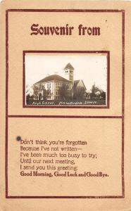 F35/ Hawarden Iowa RPPC Postcard 1912 High School Building 3