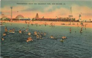 Amusement Park 1940s Ponchartrain Beach Lake New Orleans Louisiana 10838