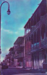 Louisiana New Orleans Typical Creole Architecture In The French Quarter Of Ne...