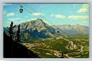 Banff AB-Alberta Canada, Sulphur Mountain Gondola Lift, Chrome Postcard