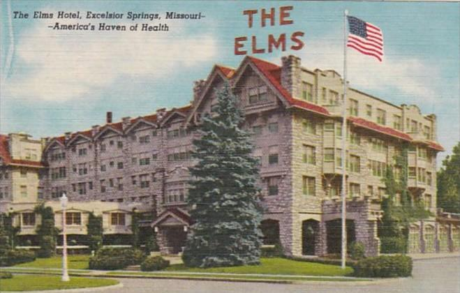Missouri Excelsior Springs The Elms Hotel Curteich
