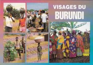 Burundi Multi View Natives In Traditional Costume