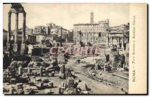 Old Postcard Roma Foro Romano E Basilica Giulia