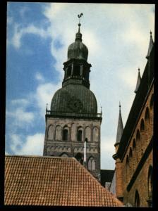RIGA The Dom Cathedral Latvia Photo Soviet Vintage Postcard