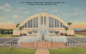 SARASOTA, Florida, 1930-40s; Fountain at Municipal Auditorium