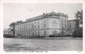 Lawrence County Court House, Bedford, Indiana, Early Postcard, Unused