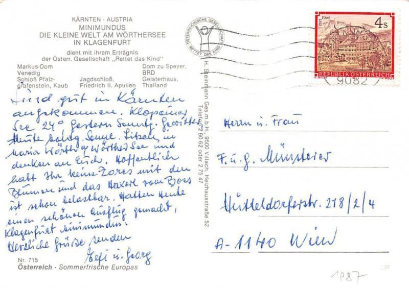 Minimundus Klagenfurt Markus Dom Venedig Schloss Pfalz Geisterhaus Castle