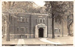 G15/ Beaver Dam Wisconsin RPPC Postcard c1950s American Legion Hall