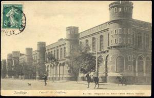 chile, SANTIAGO, Cuartel de Artilleria (1908)