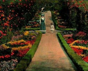 Passeggiata IN Punto Defiance Park Giardino TACOMA Washington Wa Unp 1910s