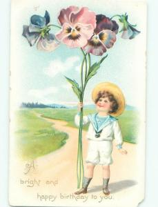 Divided-Back CHILDREN SCENE Great Postcard AA6600