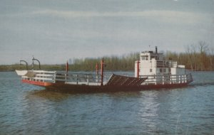 Golden Eagle Ferry, Paddle-wheel Feryboat on Mississippi River, 1940-60s