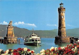 Lindau im Bodensee Schiff, Leuchtturm, Lighthouse Lion Statue, Boat Flowers
