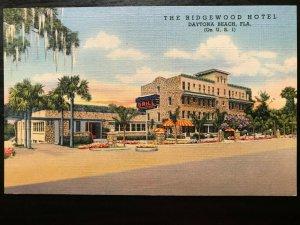 Vintage Postcard>1939>The Ridgewood Hotel & Grill >U.S. 1>Daytona Beach>Florida