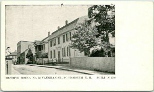 Portsmouth, New Hampshire Postcard MESERVE HOUSE, No. 32 Vaughan Street c1900s