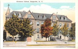 Grammar School Dolgeville, New York Postcard