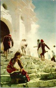 Chichicastenango Guatemala  Church Postcard unused 1960s