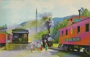 Old Time Steam Engine At Bear Creek Junction Railroad Station Topton North Ca...