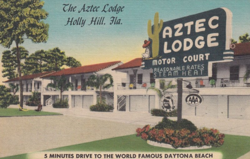 HOLLY HILL , Florida , 1930-40s ; Aztec Lodge Court