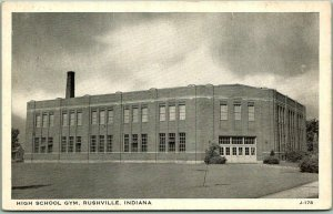 Rushville, Indiana Postcard HIGH SCHOOL GYM Wayne Paper White Border - Unused