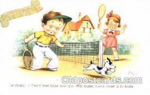 Artist Jim Patt Tennis Postcard Postcards  Artist Jim Patt