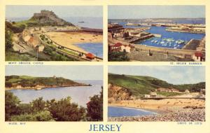 Postcard Vintage JERSEY Multiview by J Salmon No. 696c