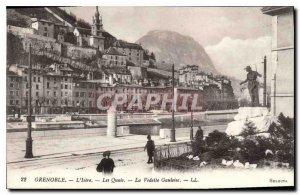 Old Postcard Grenoble Isere Quays La Vedette Gauloise