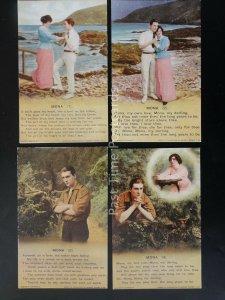 WW1 EILEEN ALANNAH Bamforth Song Cards set of 4 No 4836 1/2/3/4