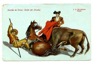 Mexico - Bullfighting. Chopper Fall